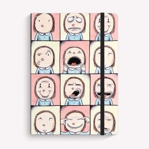 Cuaderno Cosido Mediano Enriqueta Caras Liso