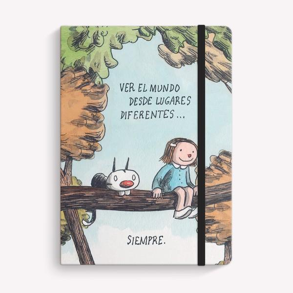 Cuaderno Cosido Mediano Lugares Diferentes Liso