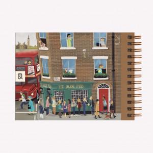 Cuaderno Apaisado de Viaje De París a Londres