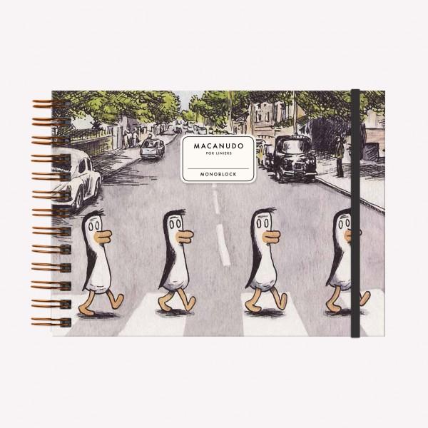 Cuaderno Apaisado Liniers Pingüinos Beatles