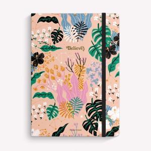 Cuaderno Cosido Mediano Believe Botánico Punteado