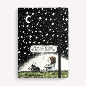 Cuaderno Cosido Mediano Noche Estrellada Punteado