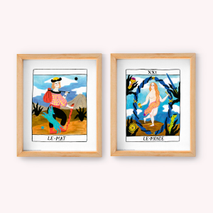 Wall Art Pack x 2 Le monde - Le Mat