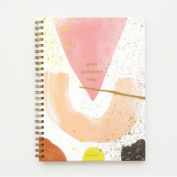 Cuaderno A4 Tapa Dura Rayado Gran Quilombo Feliz