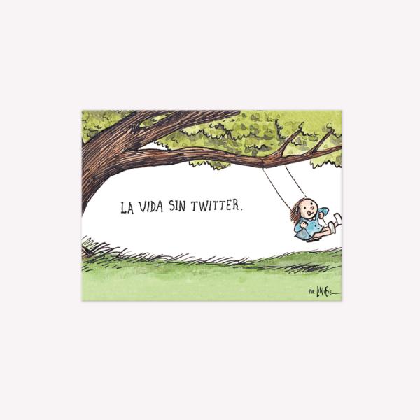 Viñeta Imantada La vida sin Twitter