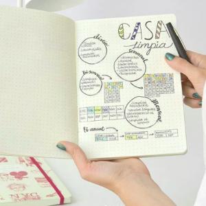 Cuaderno Cosido Mediano Coco Chanel Punteado