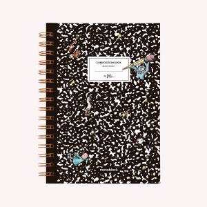 Cuaderno Anillado Mediano Composition Book Punteado