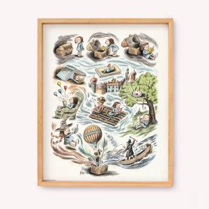 Poster Las Aventuras de Enriqueta 39x49