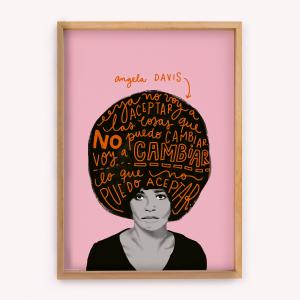 Póster Happimess Angela Davis 50x70