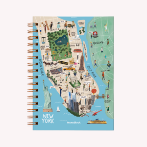 Cuaderno Anillado Mediano New York Rayado