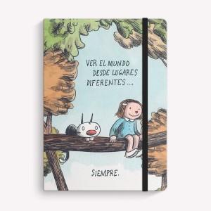Cuaderno Cosido Mediano Lugares Diferentes Rayado